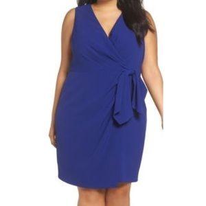 Eliza J blue Faux wrap sleeveless dress 8971